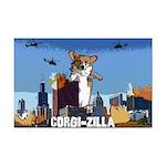Corgi-zilla Corgi Poster Print