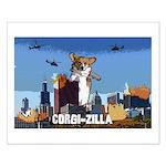 Corgi-zilla Small Poster