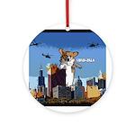Corgi-zilla Ornament (Round)