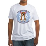 Sad Eyes Corgi Fitted T-Shirt