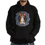 Sad Eyes Pembroke Welsh Corgi Hoodie (dark)
