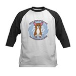 Sad Eyes Corgi Kids Baseball Jersey
