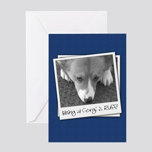B&W Corgi Photo Greeting Card