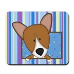 Cartoon Pembroke Welsh Corgi Mousepad