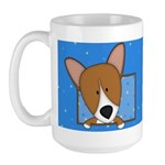 Cartoon Pembroke Welsh Corgi Large Mug