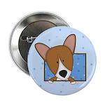 "Cartoon Pembroke Welsh Corgi 2.25"" Button"