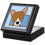 Cartoon Pembroke Welsh Corgi Keepsake Box