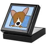 Cartoon Pembroke Welsh Corgi Keepsake Box