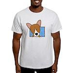 Cartoon Pembroke Welsh Corgi Light T-Shirt