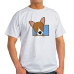 Cartoon Pembroke Welsh Corgi Light T-Shirt