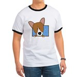 Cartoon Pembroke Welsh Corgi Ringer T
