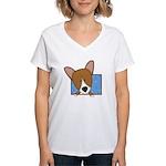 Cartoon Pembroke Women's V-Neck T-Shirt