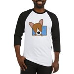 Cartoon Pembroke Welsh Corgi Baseball Jersey