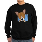 Cartoon Pembroke Welsh Corgi Sweatshirt (dark)