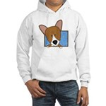Cartoon Pembroke Welsh Corgi Hooded Sweatshirt