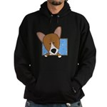 Cartoon Pembroke Welsh Corgi Hoodie (dark)