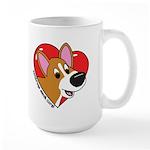 Cartoon Corgi Love Large Mug