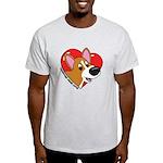 Cartoon Corgi Love Light T-Shirt