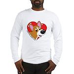 Cartoon Corgi Love Long Sleeve T-Shirt
