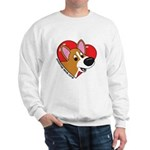 Cartoon Corgi Love Sweatshirt
