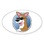 Cool Pembroke Welsh Corgi Oval Sticker
