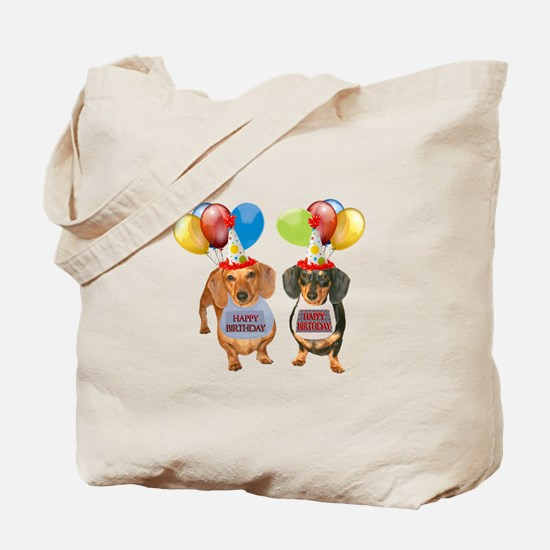 Doxie Birthday Tote Bag