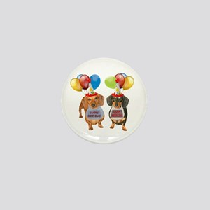 Doxie Birthday Mini Button