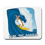 Surfing Pembroke Welsh Corgi Mousepad