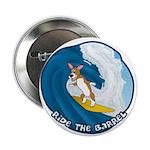 Surfing Pembroke Welsh Corgi Corgi Button Cartoon