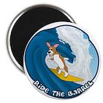 Surfing Pembroke Welsh Corgi Magnet
