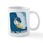 Surfing Pembroke Welsh Corgi Mug