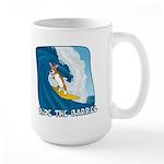 Surfing Pembroke Welsh Corgi Large Mug