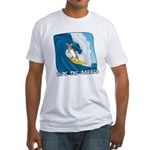 Surfing Corgi Fitted T-Shirt