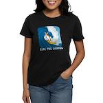 Surfing Corgi Women's Dark T-Shirt
