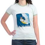 Surfing Corgi Jr. Ringer T-Shirt