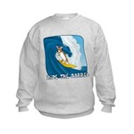 Surfing Corgi Kids Sweatshirt