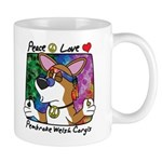 Hippie Pembroke Welsh Corgi Cartoon Mug