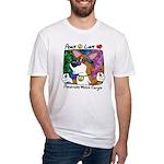 Hippie Welsh Corgi Cartoon Fitted T Shirt