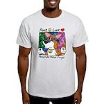 Hippie Welsh Corgi Cartoon Light Tee Shirt