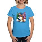 Hippie Corgi Cartoon Women's Dark T Shirt
