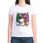 Hippie Corgi Cartoon Jr. Ringer T-Shirt