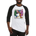 Hippie Corgi Cartoon Baseball Jersey