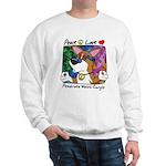 Hippie Corgi Cartoon Sweatshirt
