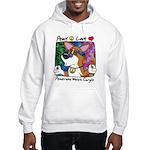 Hippie Corgi Cartoon Hooded Sweatshirt