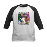 Hippie Corgi Cartoon Kids Baseball Jersey