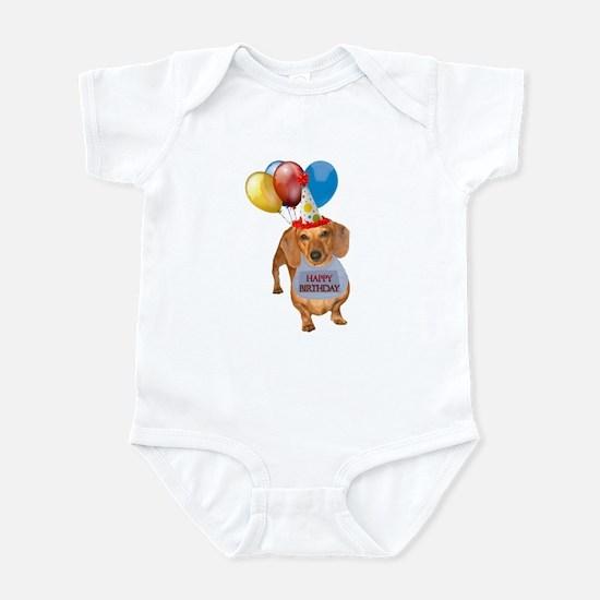 Red Doxie Birthday Infant Bodysuit