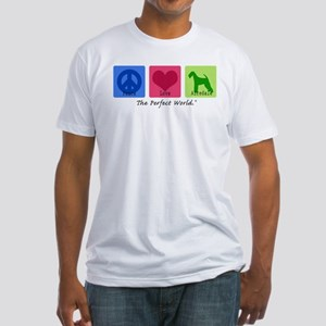 Peace Love Airedale Fitted T-Shirt