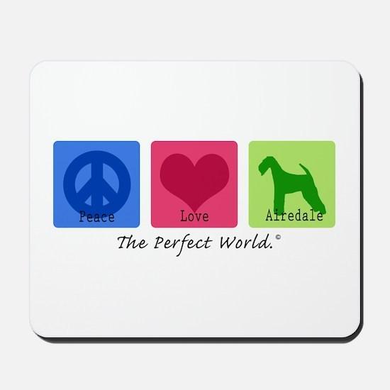 Peace Love Airedale Mousepad