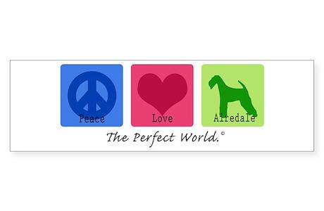 Peace Love Airedaleper Sticker