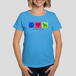 Peace Love Airedale Women's Dark T-Shirt